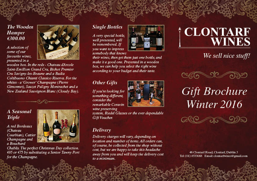 191933 Clontarf Wines DL 6pp Leaflet