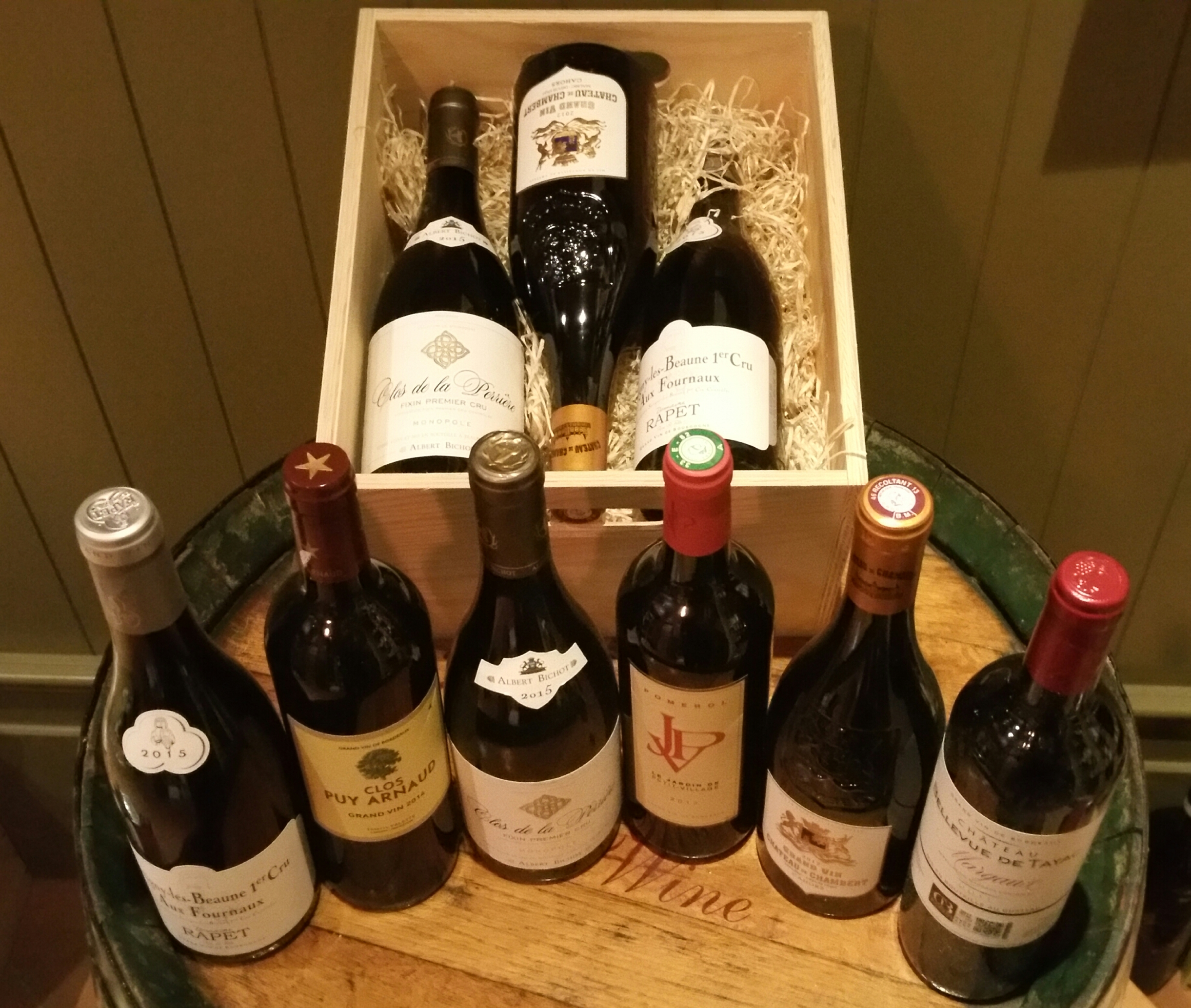 Gold - A Bordeaux/Burgundy beauty. Six great wines from great vintages, presented in a wooden box. ?360