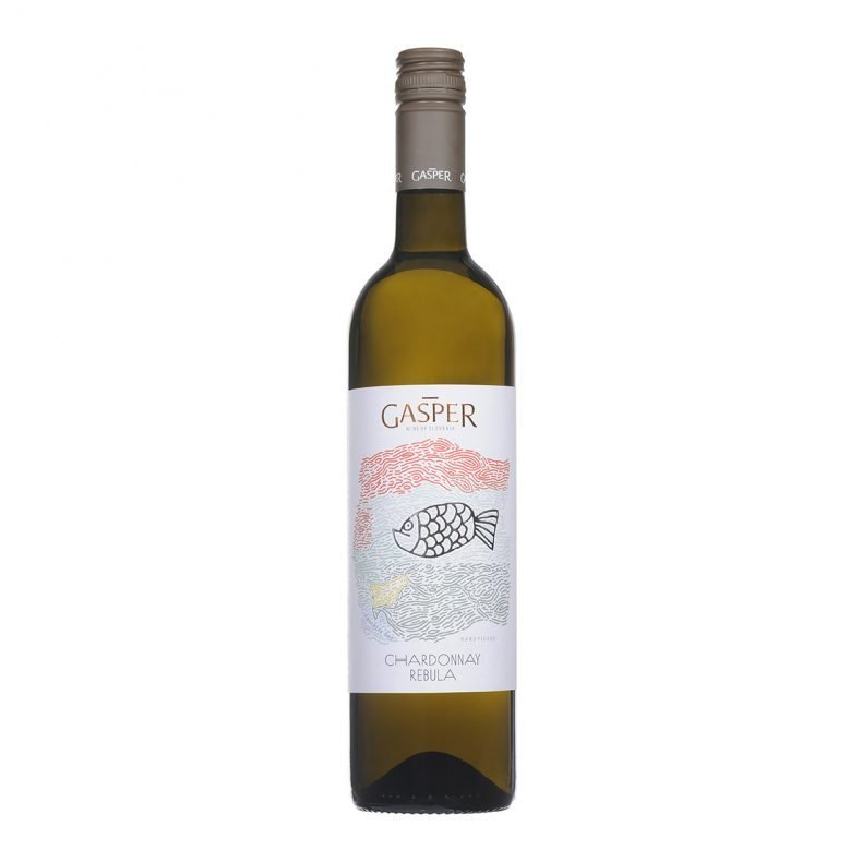 Gasper Chardonnay Rebula Fresh and fruity and displaying hints of peach and citrus, vibrant acidity and lovely roundness thanks to 5% of the wine being fermented in oak.